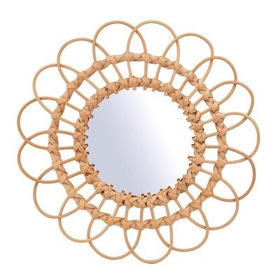 Sass & Belle Large Sunburst Rattan Mirror
