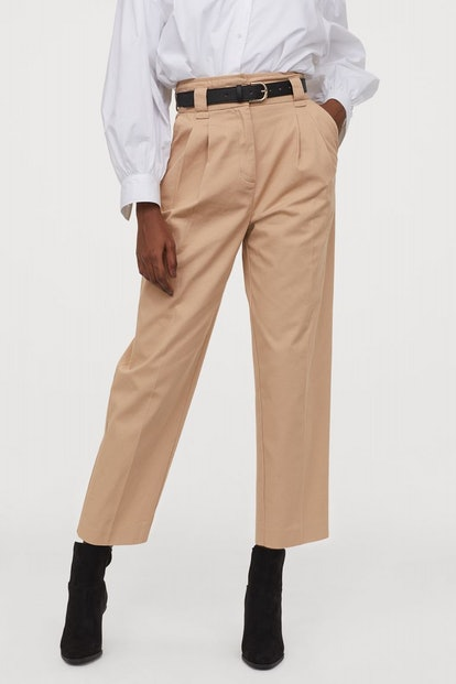 Belted Ankle-Length Pants