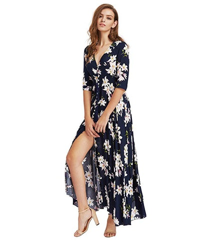 Milumia Button Up Split Maxi Dress