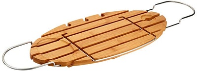AmazonBasics Standard Bamboo Bathtub Caddy Tray