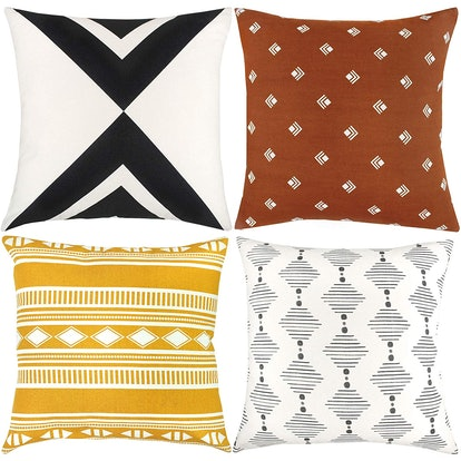 Woven Nook Decorative Throw Pillow Covers (Set of 4)