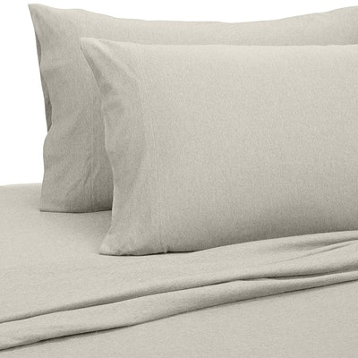 AmazonBasics Heather Cotton Jersey Bed Sheet Set