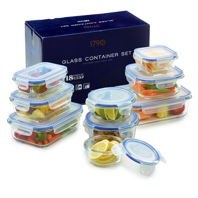 1790 Glass Food Storage Containers (Set of 9)