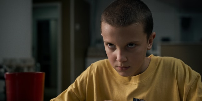 Millie Bobby Brown as Eleven in 'Stranger Things'
