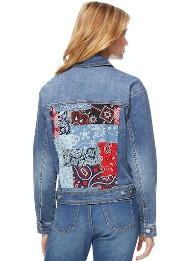 Vintage Bandana Patch Jacket