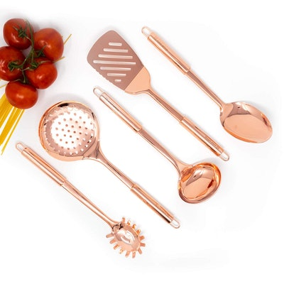 Styled Settings Copper Cooking Utensils (Set of 5)