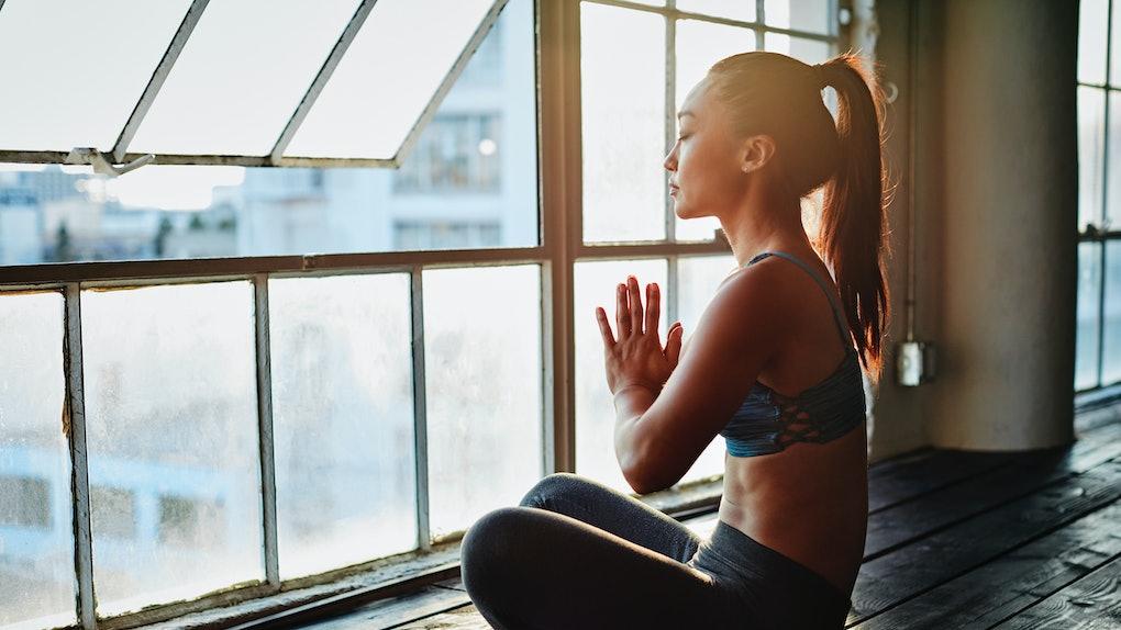Young Asian woman, meditating