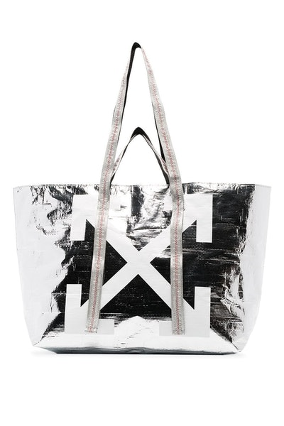 Off-White Diagonal Arrows Logo Tote Bag