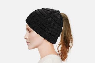 Dafunna Women's Ponytail Beanie Hat