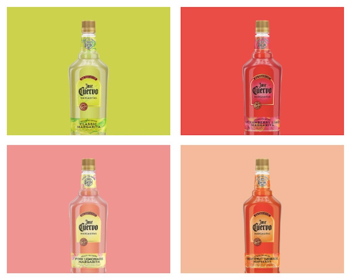 Jose Cuervo's Authentic Margaritas feature fruity flavors.
