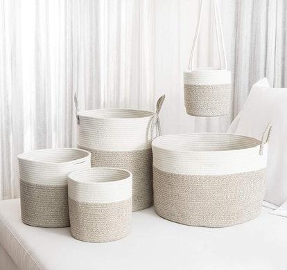 OrganiHaus XXL Extra Large Cotton Rope Basket