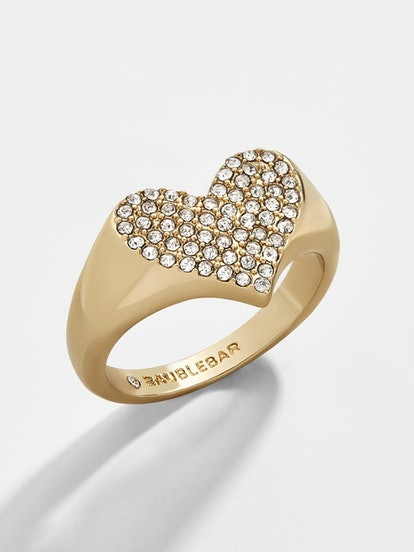 Gemma Heart Pinky Ring