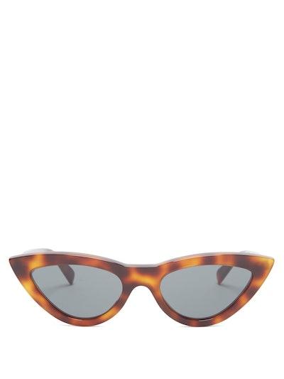 Cat-Eye Tortoiseshell Acetate Sunglasses