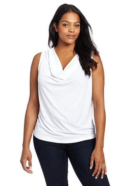 Calvin Klein Women's Cowl Neck Sleeveless Top