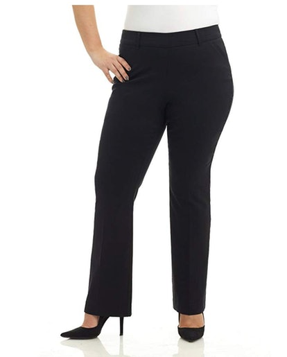 Rekucci Curvy Woman Ease into Comfort Barely Bootcut Pants