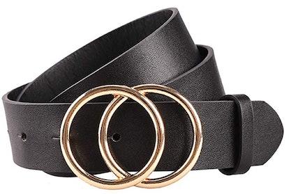 Earnda Women's Faux-Leather Belt Fashion