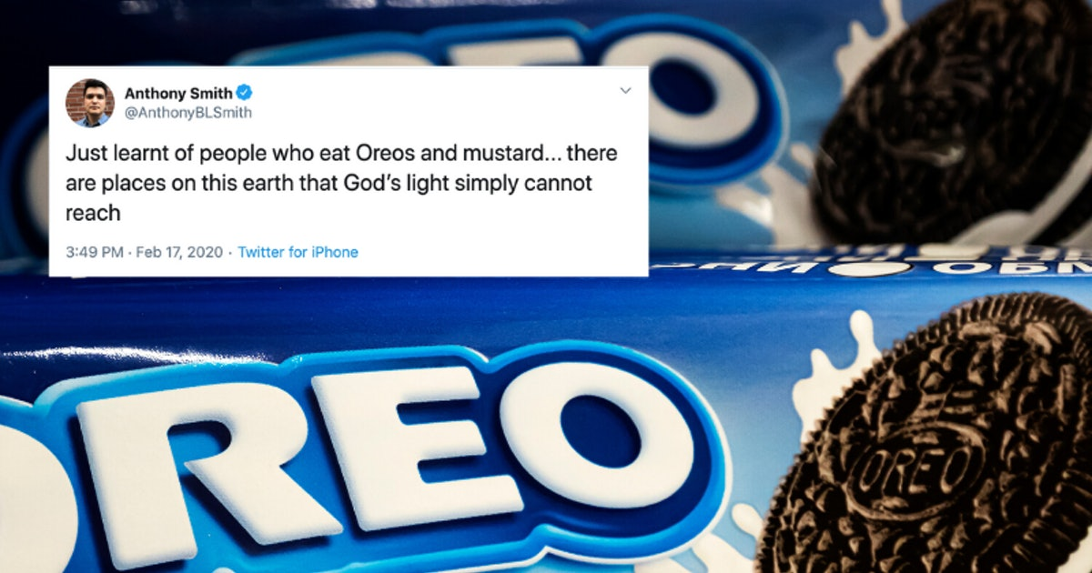 Twitter's Reaction To Dipping Oreos In Mustard Is High-Key Relatable