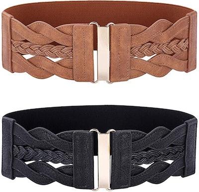 Paul Jones Elastic Wide Belt (2-Piece)