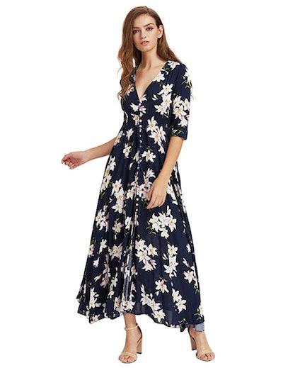 Milumia Women's Buttoned Maxi Dress