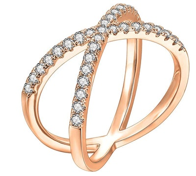 AVOI 14K Gold Plated Stackable Rings