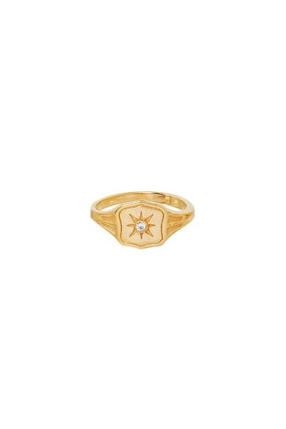 Wild Love Gold Signet Ring
