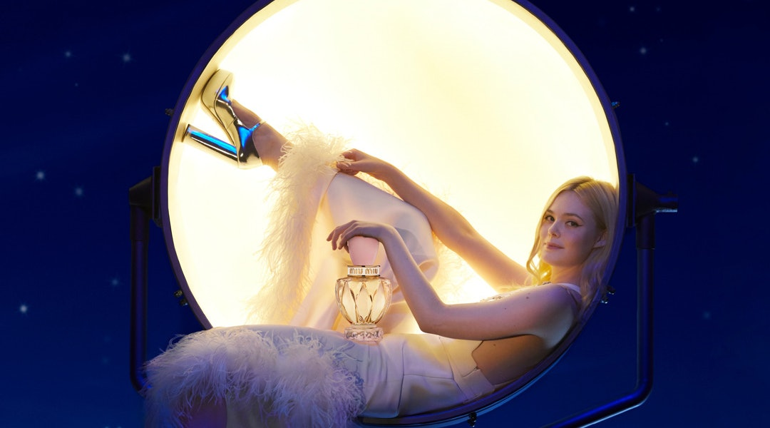 Miu Miu's new Twist Eau de Toilette with star Elle Fanning.