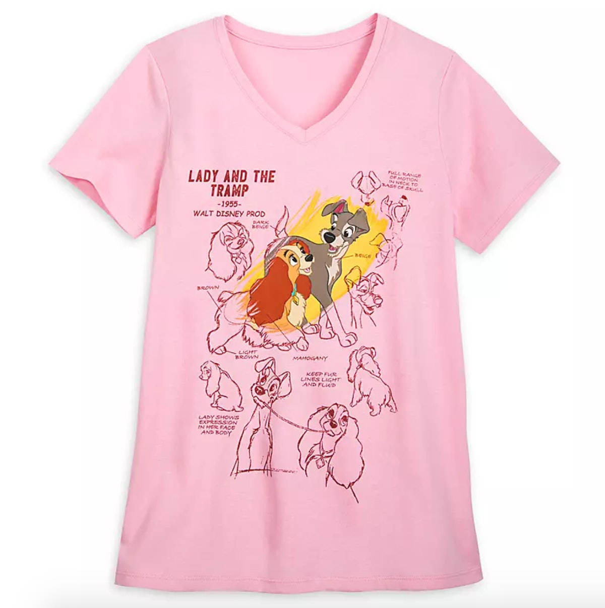 Lady and the Tramp Fashion T-Shirt for Women – Ink & Paint