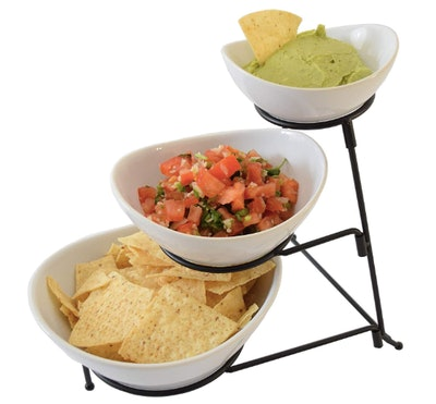 LL Products 3 Tier Oval Chip and Dip Bowl Set