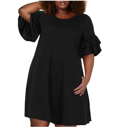 Nemidor Women's Plus Size Swing Dress with Pocket