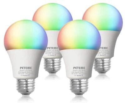 Peteme Smart LED Light Bulb (4-Pack)