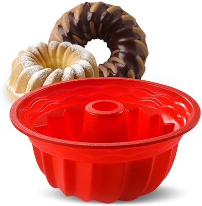 Aokinle Silicone Fluted Round Cake Pan (9.45 Inches)