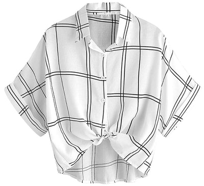 MAKEMECHIC Women's Collar Button Down