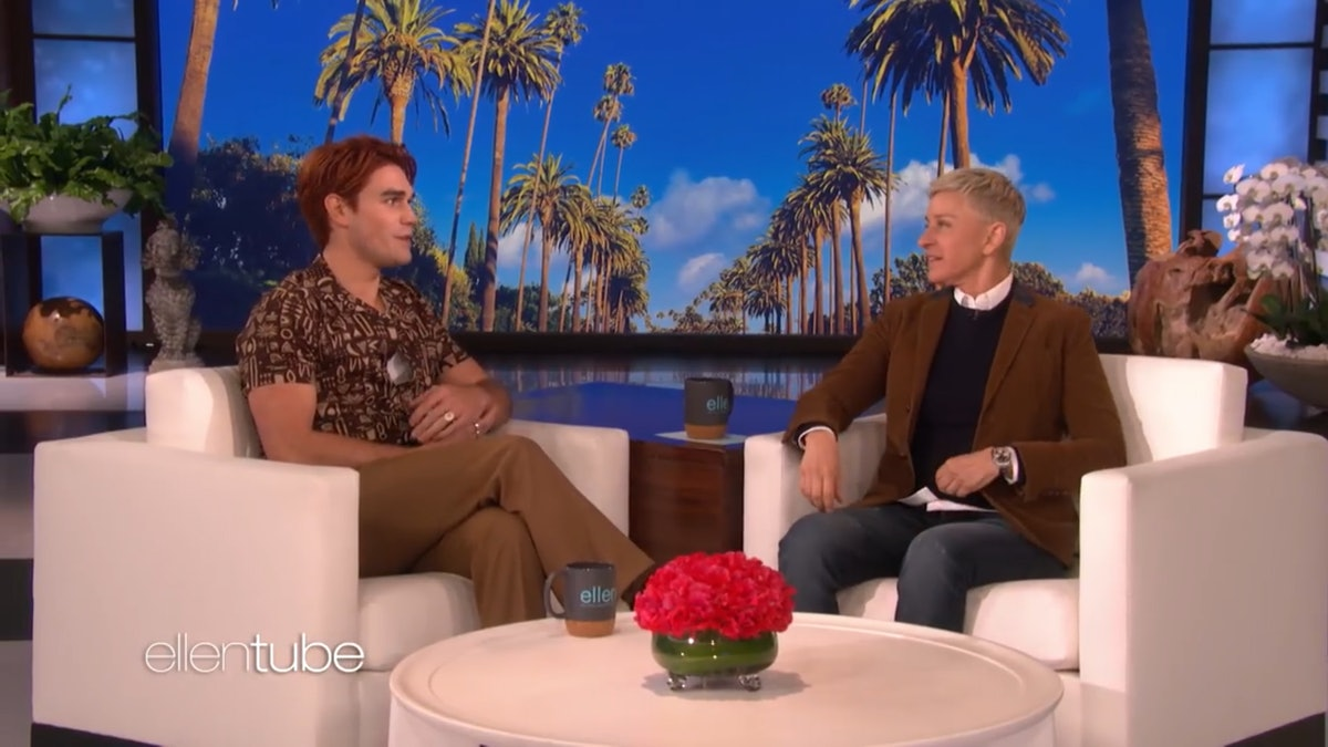 KJ Apa attends the Ellen DeGeneres Show,