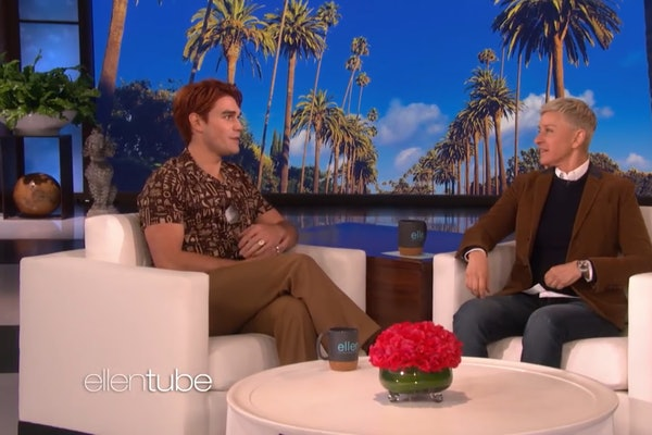 KJ Apa attends the Ellen DeGeneres Show,