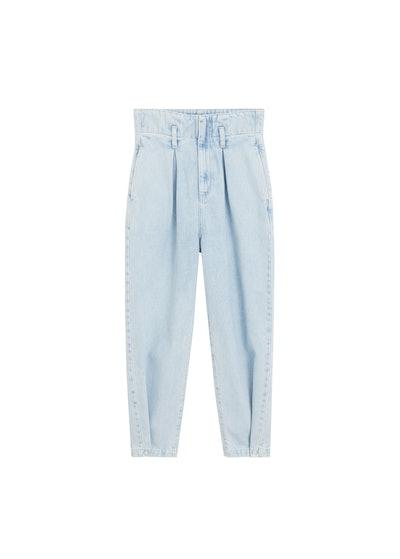 Slouchy Super High Waist Darts Jeans