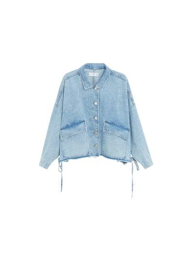 Adjustable Waist Denim Jacket