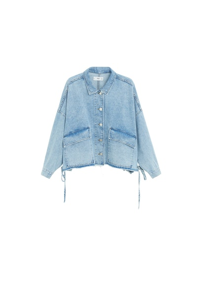 Adjustable Waist Denim Jacket