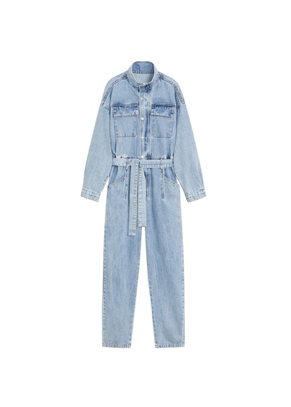 Belt Denim Jumpsuit