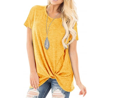 Yidarton Knotted Tunic Top