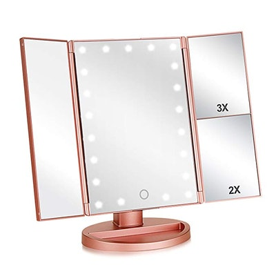 Wudeweike Tri-Fold Lighted Vanity