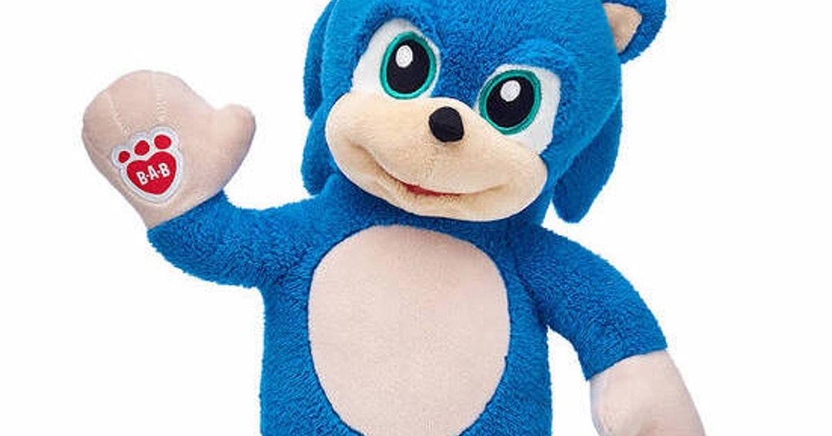 Build-A-Bear's Sonic The Hedgehog Is Here But He's Going (Really) Fast