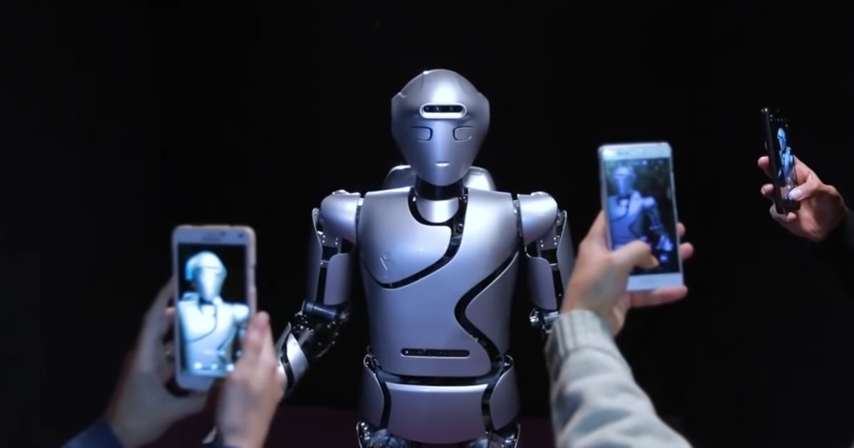Watch Iran's humanoid robot drill through a wall and take a selfie