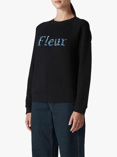 Whistles Fleur Embroidered Jumper