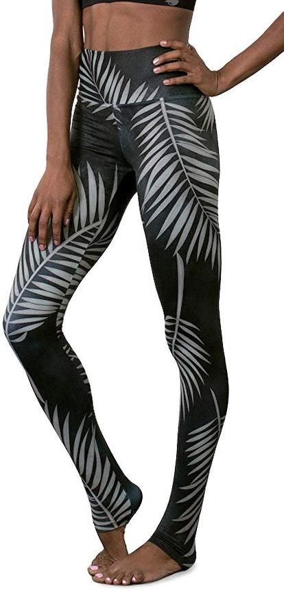Flower Power - Squat Proof High Waist Tummy Control Performance Leggings Yoga Pants