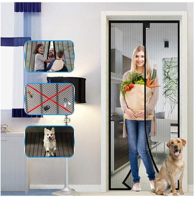 Magnetic Screen Door with Heavy Duty Mesh Curtain by Joyday