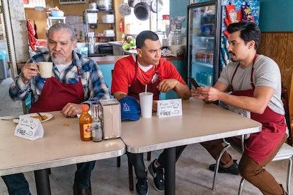 Joseph Julian Soria, Joaquin Cosio, and Carlos Santos in 'Gentefied'