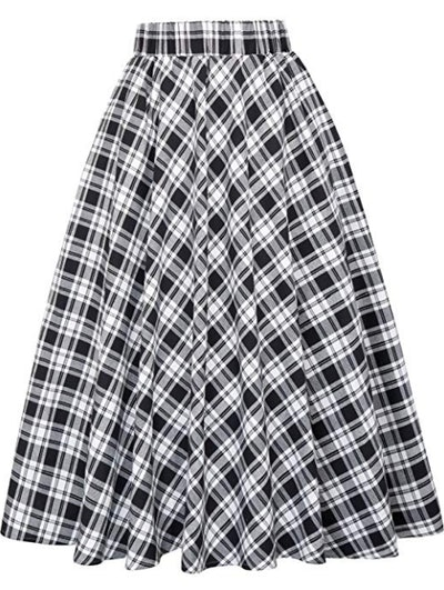 Kate Kasin Women's A-Line Vintage Skirt
