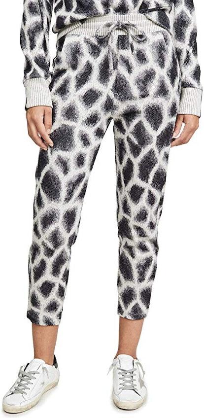 Women's Cropped Giraffe Joggers