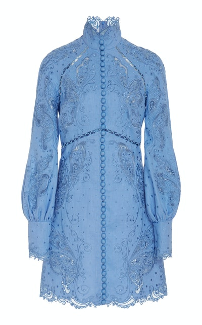 Broderie Anglaise Mini Dress
