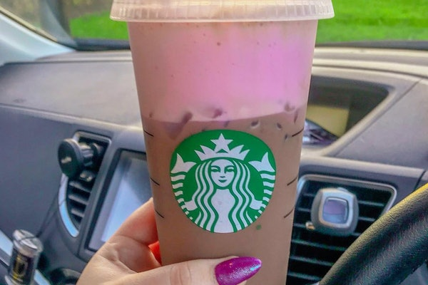 The Pink Cold Foam at Starbucks is made with strawberry puree.